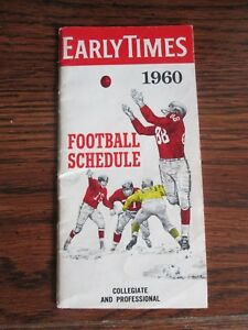 1960-EARLY-TIMES-FOOTBALL-SCHEDULE-COLLEGIATE-amp-PROFESSIONAL