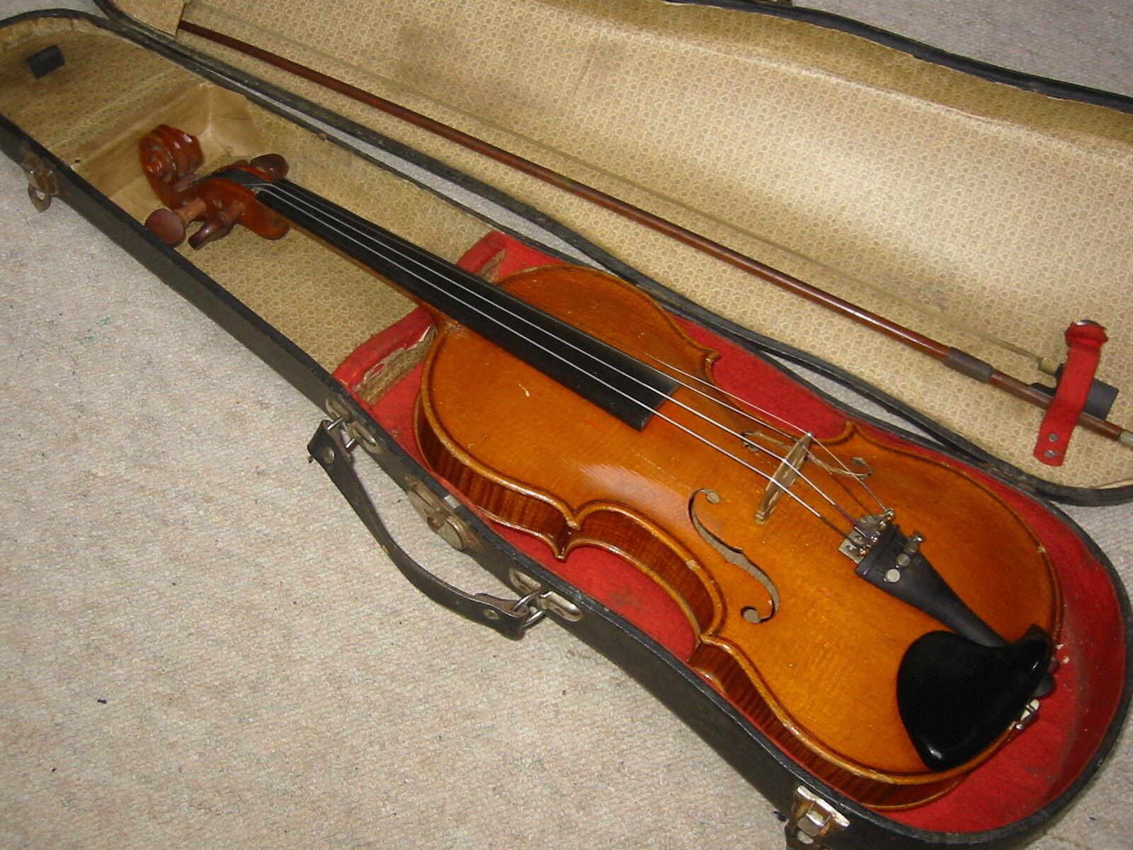 Buen & Old 3 4 violín violon violon violon  Stainer Marca   muy bien Flameado  0c5d66