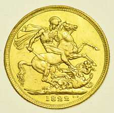 1822 SOVEREIGN, BRITISH GOLD COIN FROM GEORGE IIII GVF