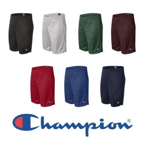 "NEW Champion Mens Size S-2XL Athletic Long Mesh Pocket Gym Shorts 9/"" Inseam s162"