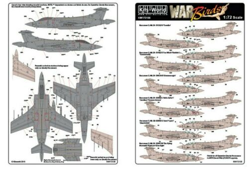 HS Buccaneer Gulf War NEW 1:72 Kits World Decals 172135 Blackburn