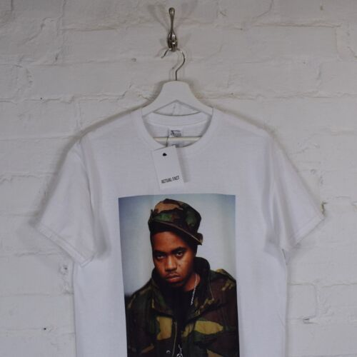 NAS Colour Camouflage Rap Urban Hip Hop White Tee T-shirt by Actual Fact