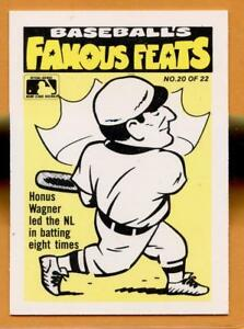 Details About 1986 Fleer Famous Feats Baseball Card 20 Honus Wagner
