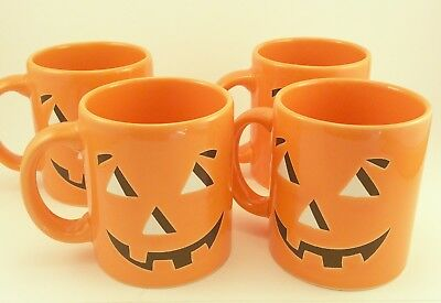 Waechtersbach Jack O' Lantern Pumpkin Halloween Coffee Mug Cup Set Of 4 Spain