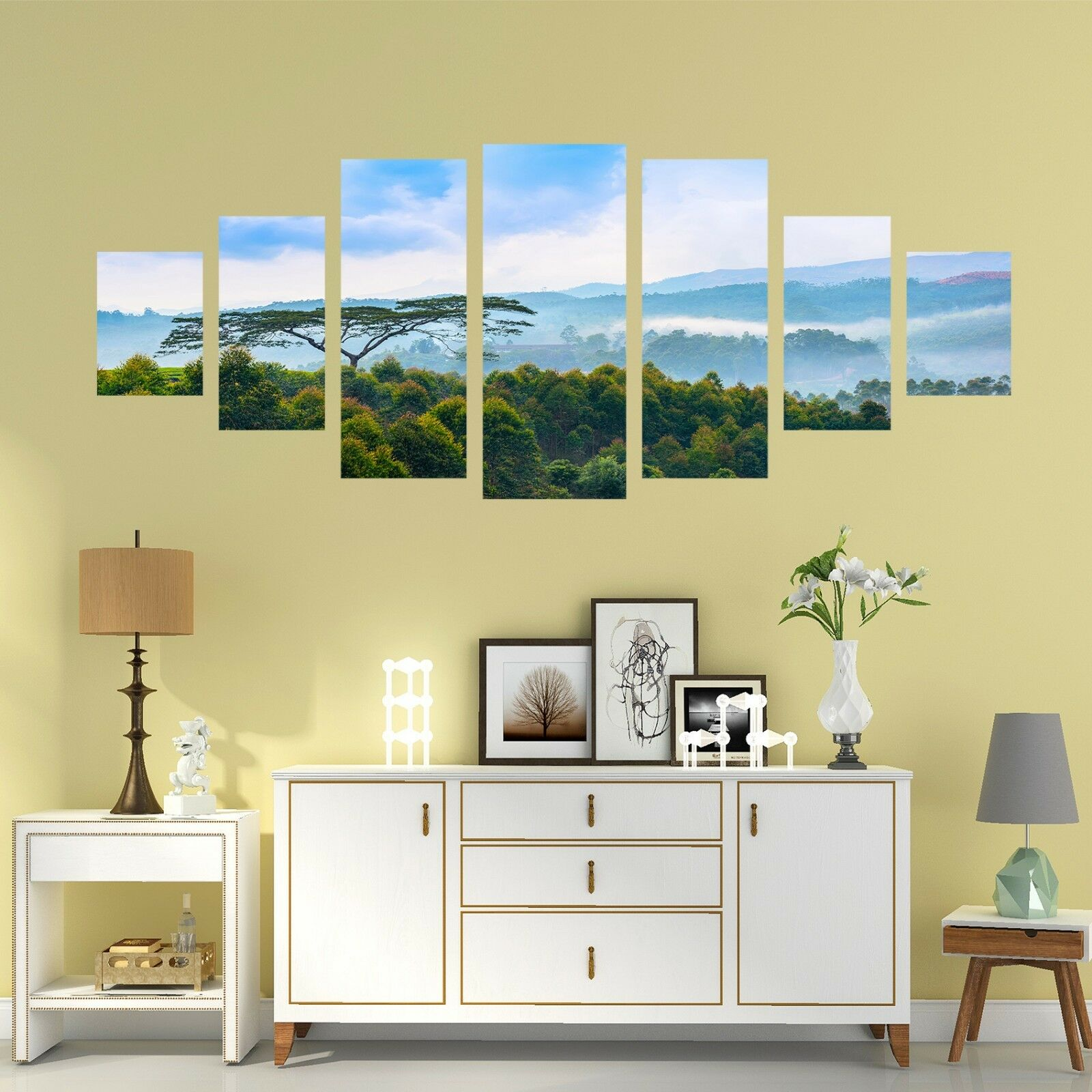 Cielo de montaña 56 impresión sin enmarcar 3D Papel de Parojo Calcomanía Decoración De Parojo Parojo Interior AJ