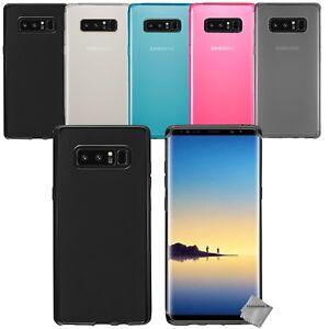 Détails sur Housse etui coque silicone gel fine pour Samsung Galaxy Note 8 verre trempe