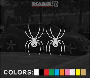Set-of-2-Black-Widow-Decals-Stickers-3-5-034-x-2-034-Turbo-Truck-Spider-Diesel-Car