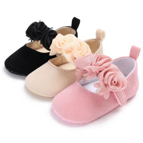 Anti-Dérapant Baby Prewalker Girl Crib Chaussures nouveau-né Bébé Landau Semelle Souple enfants