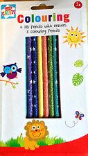 12 MATITE GLITTER 8 Colori 4 HB con Gomma superba qualità pre sharpend £ 1,99
