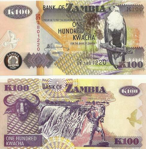Zambia 100 Kwacha Uncirculated 2006 Note