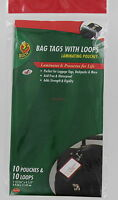 Duck Brand Bag Tags With Loops - Laminating Pouches - 10 Pouches & Loops