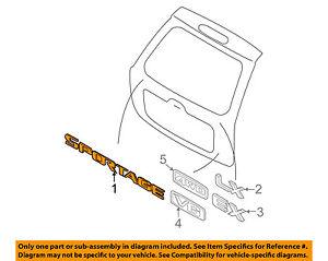 GENUINE 863101F000 KIA SPORTAGE 2005-2010 REAR NAMEPLATE EMBLEM LIFT GATE