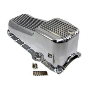 Finned-Oil-Pan-Aluminum-86-02-Chevy-SBC-305-5-0L-350-5-7L-Vortec-1pc-Rear-Seal