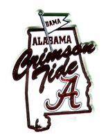 Alabama Crimson Tide State Outline Map Fridge Magnet