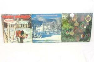 Lot-of-3-Christmas-Records-Happy-Holiday-18-Bill-Vaughn-Songs-Happy-Holly-Day