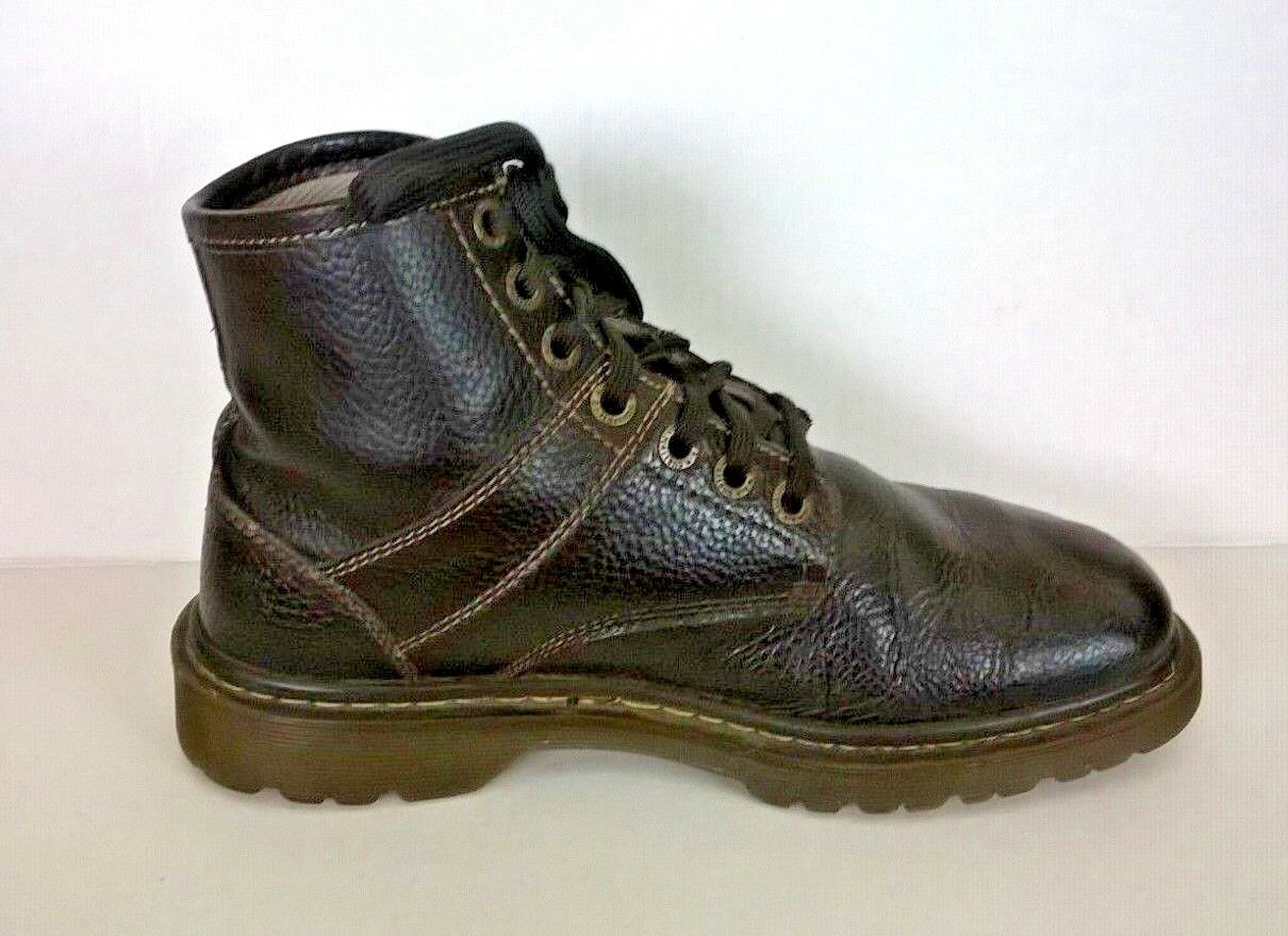 Dr. Martens pinkland 7 Hole Brown Pebbled Leather Combat Boots Sz   US 10