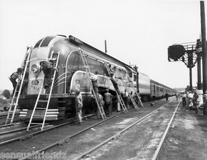 Union-Pacific-Steam-train-Locomotive-49er-being-servicred-Railroad-Photo-UP