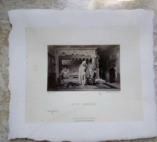 $ 800 Foto Litografia Stampa Goupil & C Le Roi Candaule Nyssia ThÉophile Gautier Tecniche Moderne