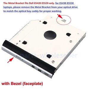 with-Bezel-2nd-HDD-SSD-SATA-Caddy-for-Dell-Latitude-E5420-E5520-E5430-E5530