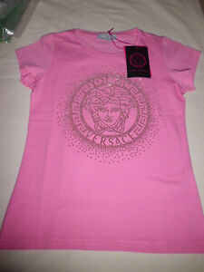 aeb0d6e1 Image is loading VERSACE-Young-T-Shirt-Pink-Medusa-Metal-Size-