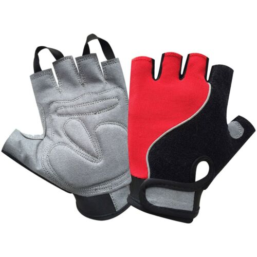 Power Cycling Gloves Finger Less Gym Fitness Weight Lifting Rubber Padded 604
