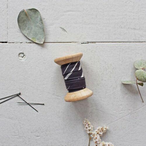 Atelier Brunette Chalk Bias Binding Charcoal