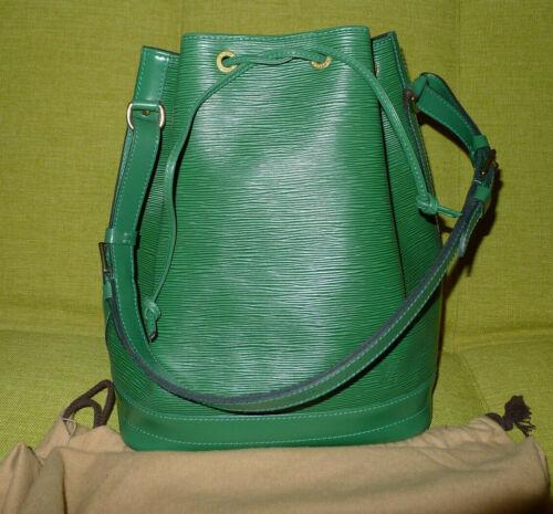 LOUIS VUITTON Epi Noe Bucket Leather Bag GM Vintag