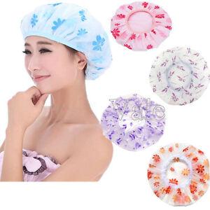 3Pcs-Lot-Women-Waterproof-Elastic-Shivering-Shower-Bathing-Bouffant-Hair-Cap-Hat