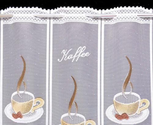 Kaffee Scheibengardine Küche Cafe Tasse Gardine Küchengardine Bistrogardine Neu