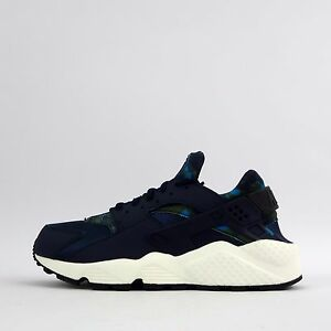 Nike Air Huarache Run stampa Donna Le Scarpe da tennis Ossidiana/Black