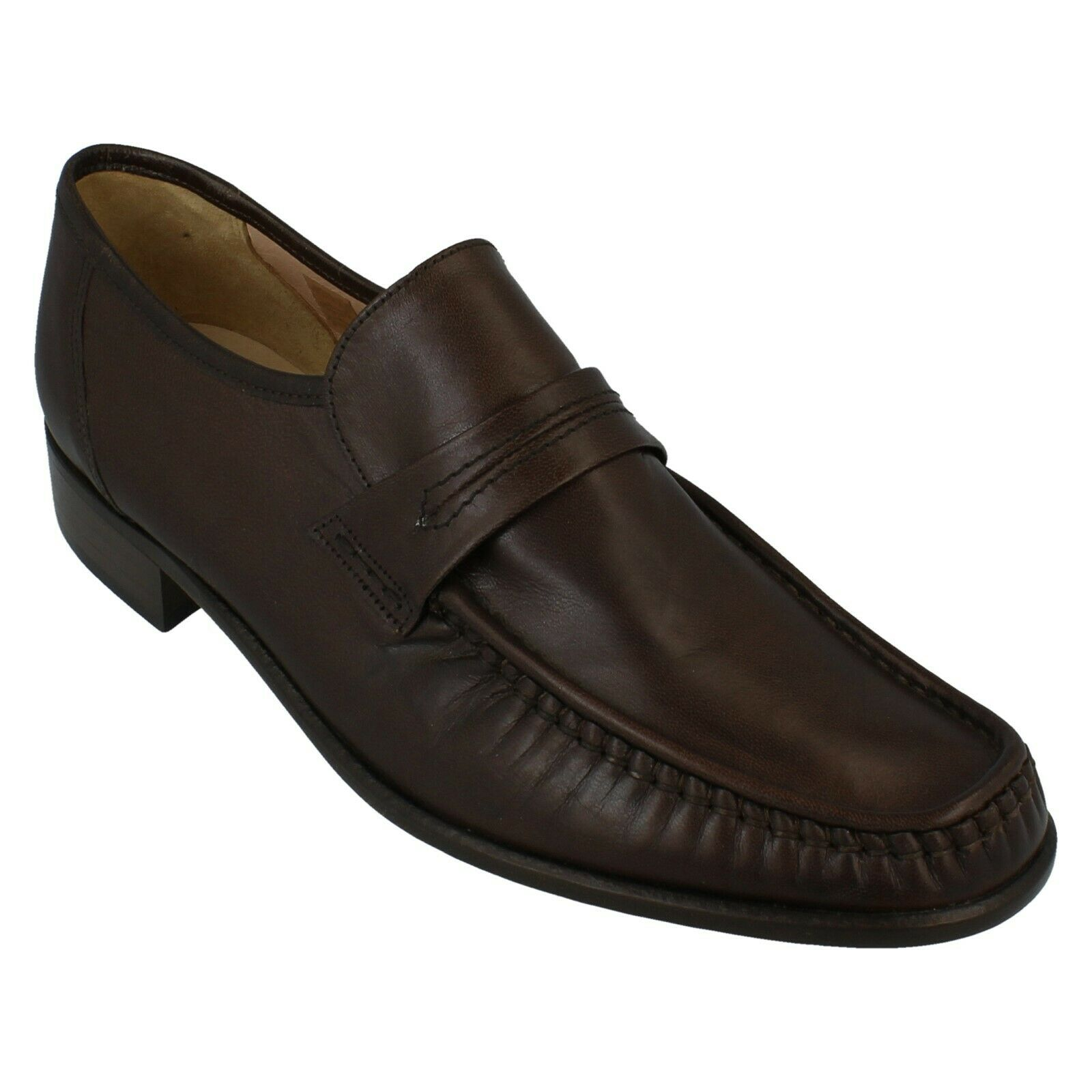 Mens Grenson Smart Leather Slip On shoes - Watford - Brown - UK 8 - ExDisplay