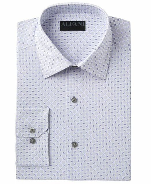 NWT $99 RYAN SEACREST Men SLIM-FIT PURPLE WHITE LONG-SLEEVE DRESS SHIRT 17 34//35