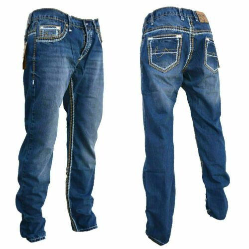 STRAIGHT Herren Jeans Slim Fit Basic Jeans Stretch Hose  DICKE NAHT  NEU 2134