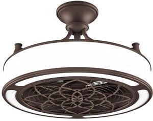 22 In Bronze Ceiling Fan And Light Indoor Outdoor