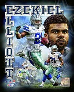 EZEKIEL-ELLIOTT-034-Dallas-Cowboys-034-LICENSED-un-signed-poster-print-pic-8x10-photo