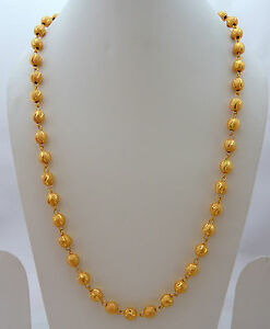 60120044bb8ad Details about Jwellmart Indian South Gold Polish Self Design Women Long  Necklace Chain Jewelry