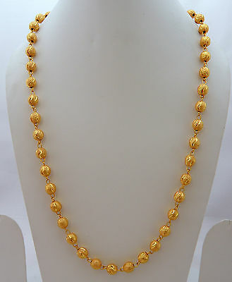 Jwellmart Indian South Gold Polish Self Design Women Long Necklace Chain Jewelry Ebay