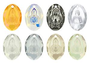 9ae49dc51 Image is loading Genuine-SWAROVSKI-6871-Buddha-Crystals-Pendants-28x19-8mm-