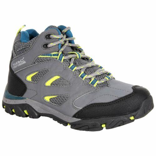 Regatta Childrens Holcombe IEP Mid Waterproof Walking Boot Granite//Lime