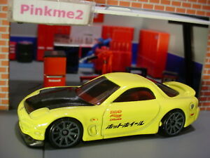 039-95-MAZDA-RX-7-yellow-gray-10sp-NIGHTBURNERZ-2018-Hot-Wheels-LOOSE