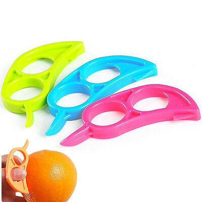 2pcs Citrus Orange Opener Peeler Slicer Cutter Plastic Lemon Fruit Skin Remover