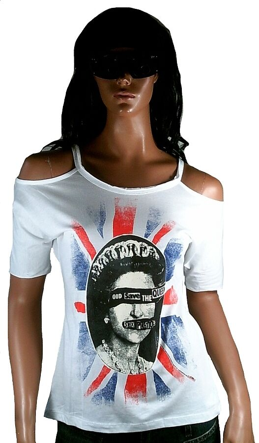 AMPLIFIED SEX PISTOLS God Save The Queen UK Punk ViP Hot Designer Tank T-Shirt S