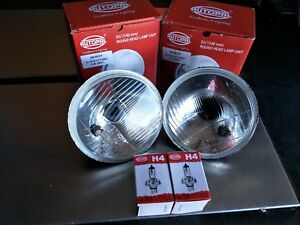 NEW-HALOGEN-H4-HIGH-LOW-HEADLIGHT-INSERT-KIT-BOTH-SIDES-5-3-4-inch