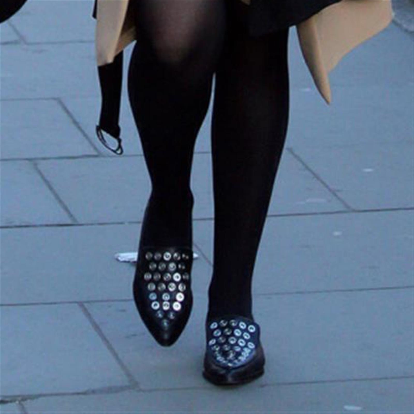 Zara Leder spitze Schuhe Slipper Größe uk3 eur36 US6