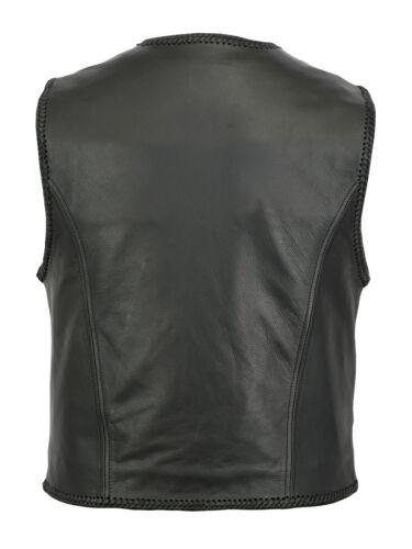 Chopper Awanstar 100/% original gilet cuir cuir Moto veste blouson rocker