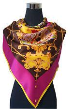 elegantes Seidentuch aus 16 Momme schwerer Seide-Satin, 110x110cm,