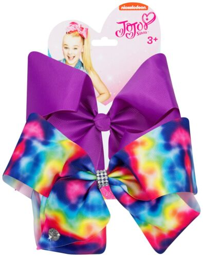 Set of 2 JoJo Siwa Large Bows Dancer Hair Bow Accessory Girls Party Fun Genuine