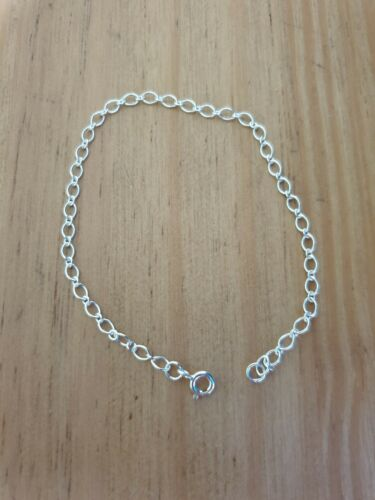 """925 Sterling Silver Charm Chain Bracelet 6.5/"""" length small wrist//child"""