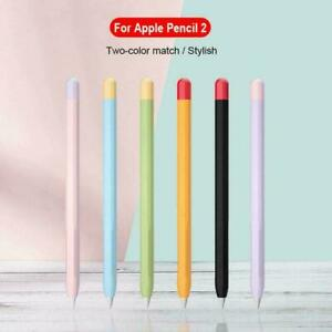 For-Apple-Pencil-1st-2nd-Gen-Pen-Silicone-Case-Cover-Holder-Skin-Pou-Soft-B5S0