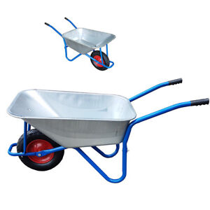 WheelBarrow-Builders-Garden-Metal-Truck-Wheel-Barrow-New-Pneumatic-Tyre-DCUK